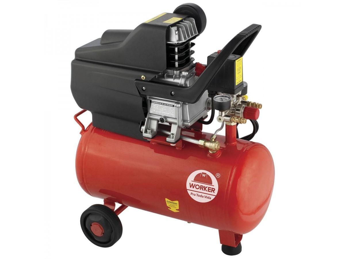 Compressor de Ar 24L 2HP 8BAR Worker