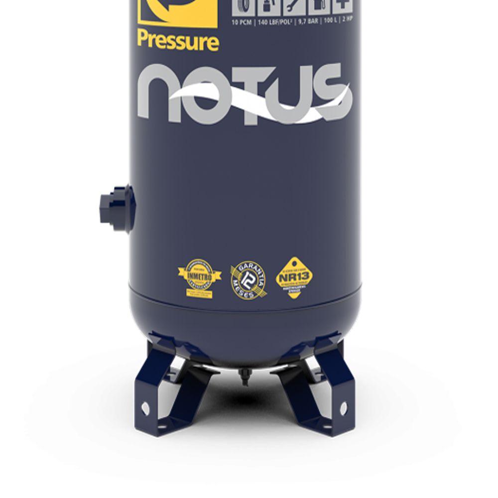 Compressor de Ar 2HP 100 Litros Vertical Bivolt 127/220V Pressure