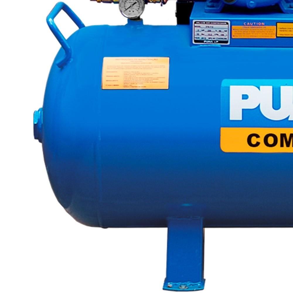 Compressor Industrial 150 Litros 15 Pés 3CV Trifásico 380V Puma
