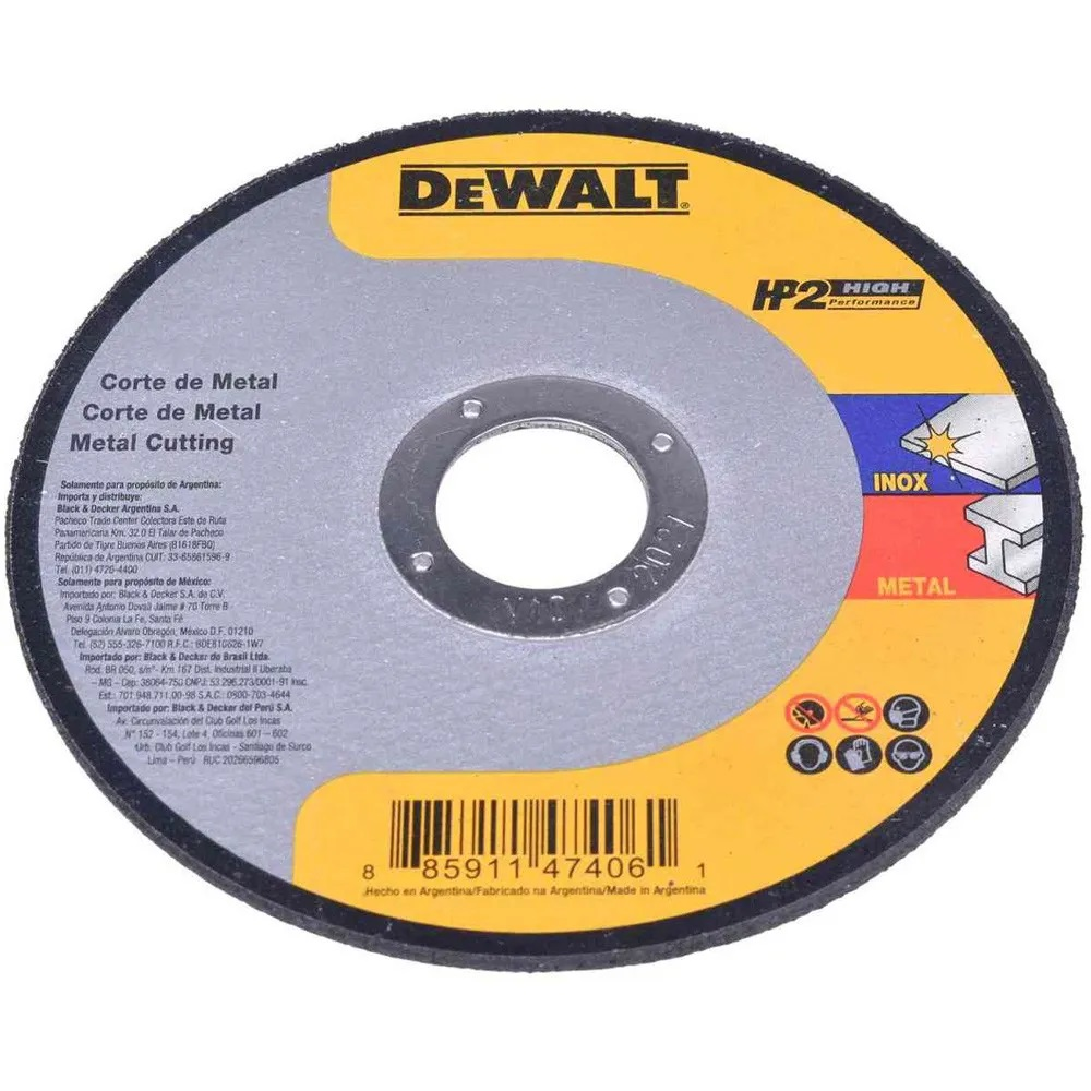 Disco de Corte Inox HP2 4.1/4 x 1MM x 7/8 Polegadas Dewalt