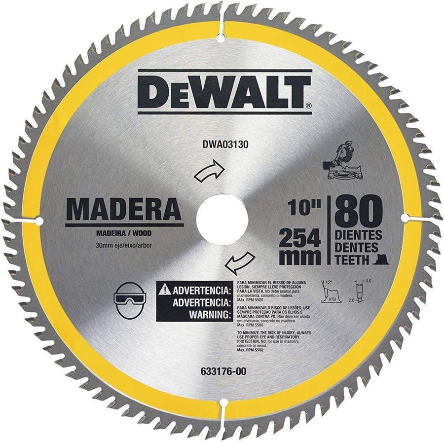 Disco de Serra para Madeira 80 Dentes Dwa03130 Dewalt