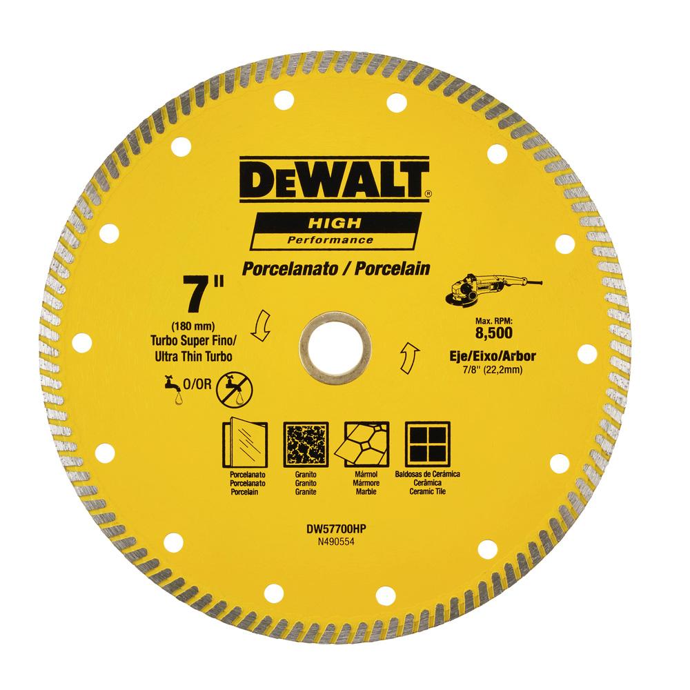 Disco Diamantado para Porcelanato 7''(180mm) Dewalt