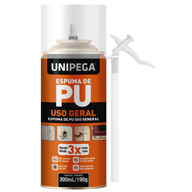 Espuma PU de Uso Geral 300ml 190g Unipega