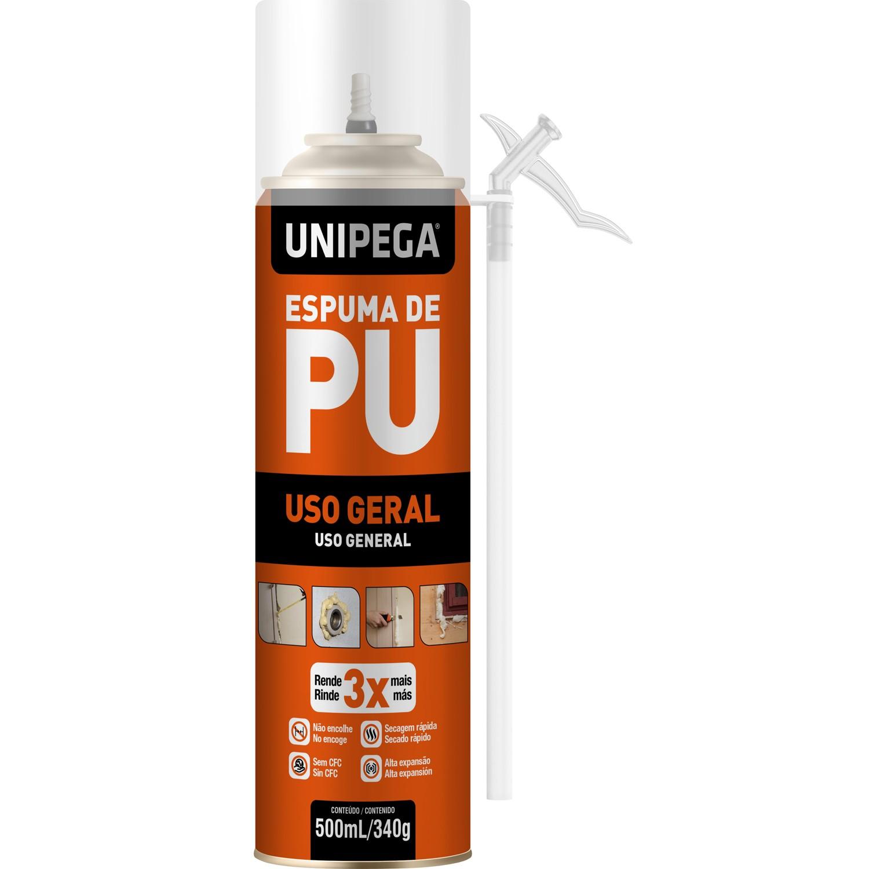 Espuma PU de Uso Geral 500ml 340g Unipega