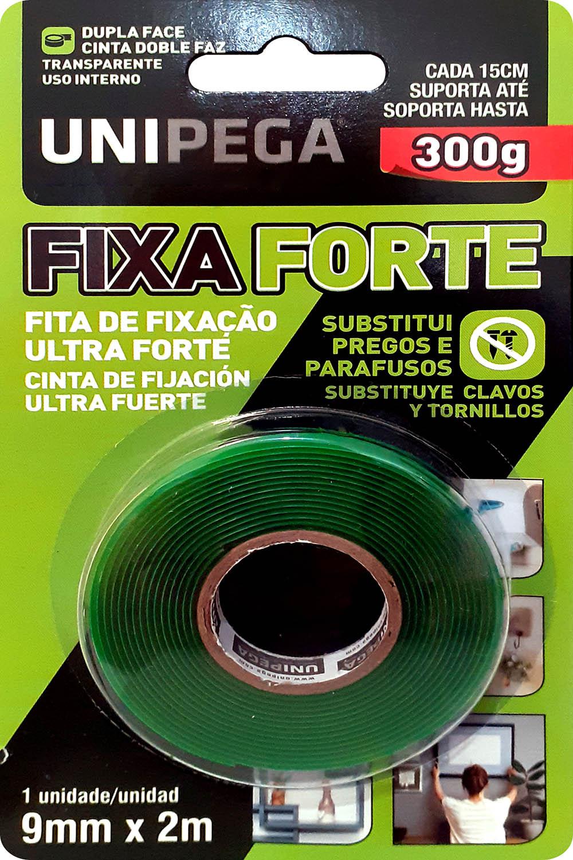 Fita Dupla Face Fixa Forte 9mm X 2M Até 300g Unipega