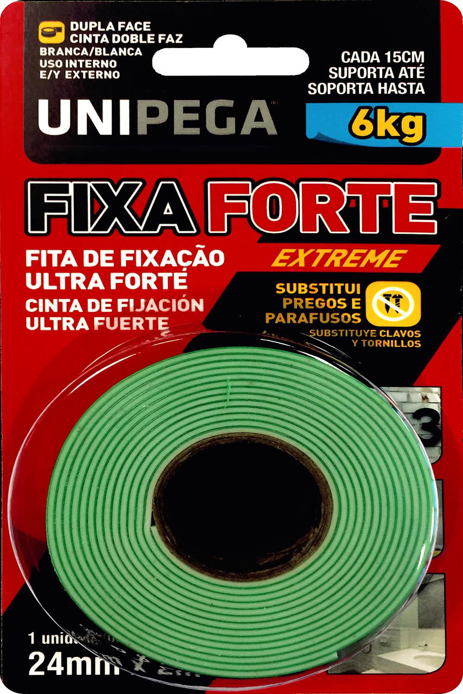 Fita Dupla Face Fixa Forte Extreme 24mm X 2M Até 6kg Unipega