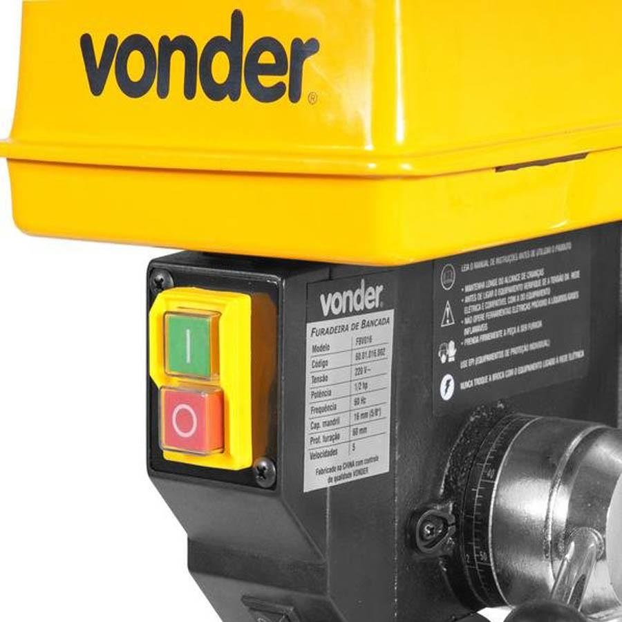 Furadeira de Bancada 5 Velocidades 13mm 1/3 HP FBV013 Vonder