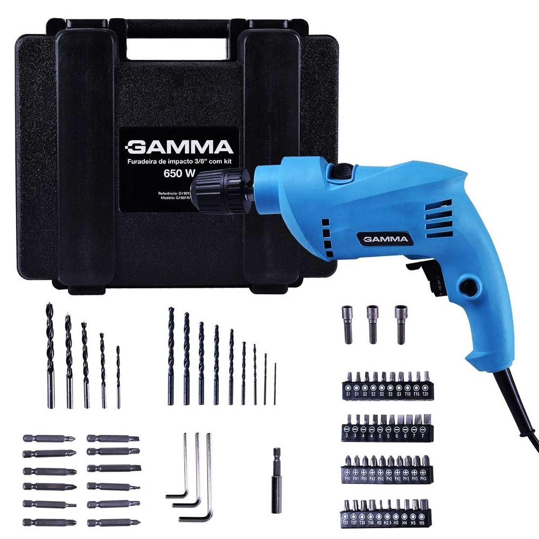 Furadeira de Impacto 650W com Kit e Maleta G1901K Gamma