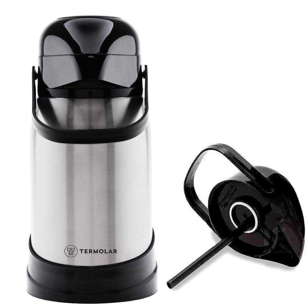 Garrafa Térmica 100%Inox R-Evolution 1.2L com Bomba Termolar