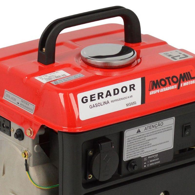 Gerador 0.8 KVA Monofásico a Gasolina 1.5 HP MG950 Motomil