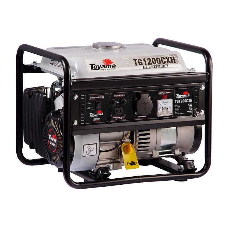 Gerador 1 KVA Monofásico a Gasolina 2.4 HP TG1200CXH Toyama