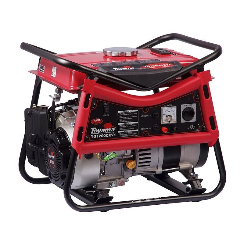 Gerador 1 KVA Monofásico a Gasolina 2.4 HP TG1200CXV Toyama