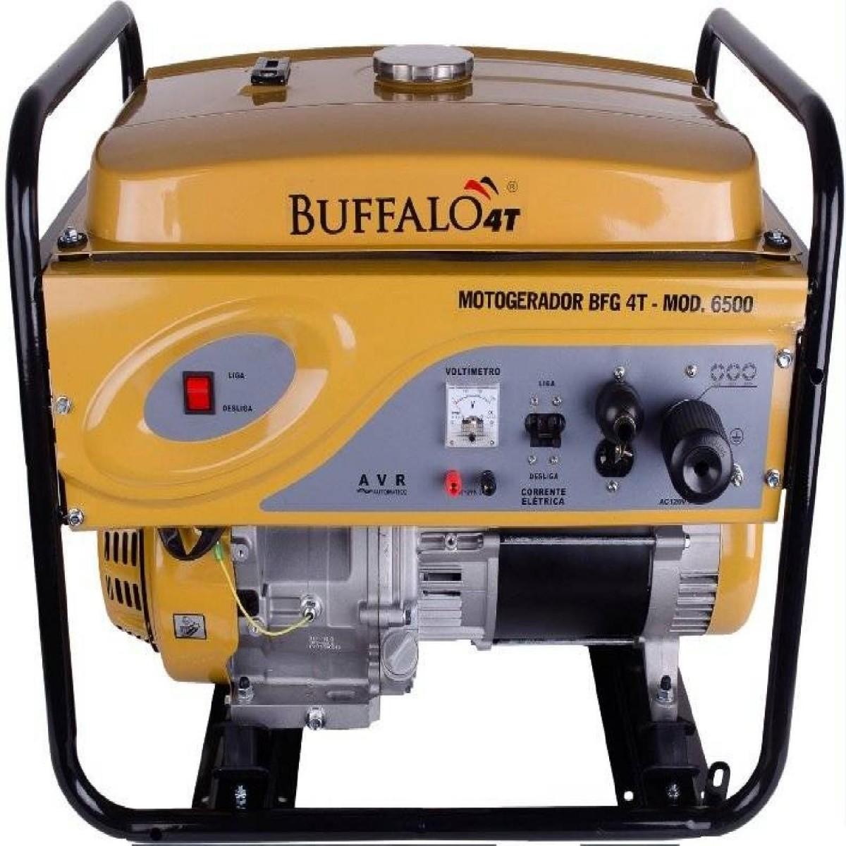 Gerador 5 KVA Monofásico a Gasolina 15 HP BFG6500 Partida Manual Buffalo
