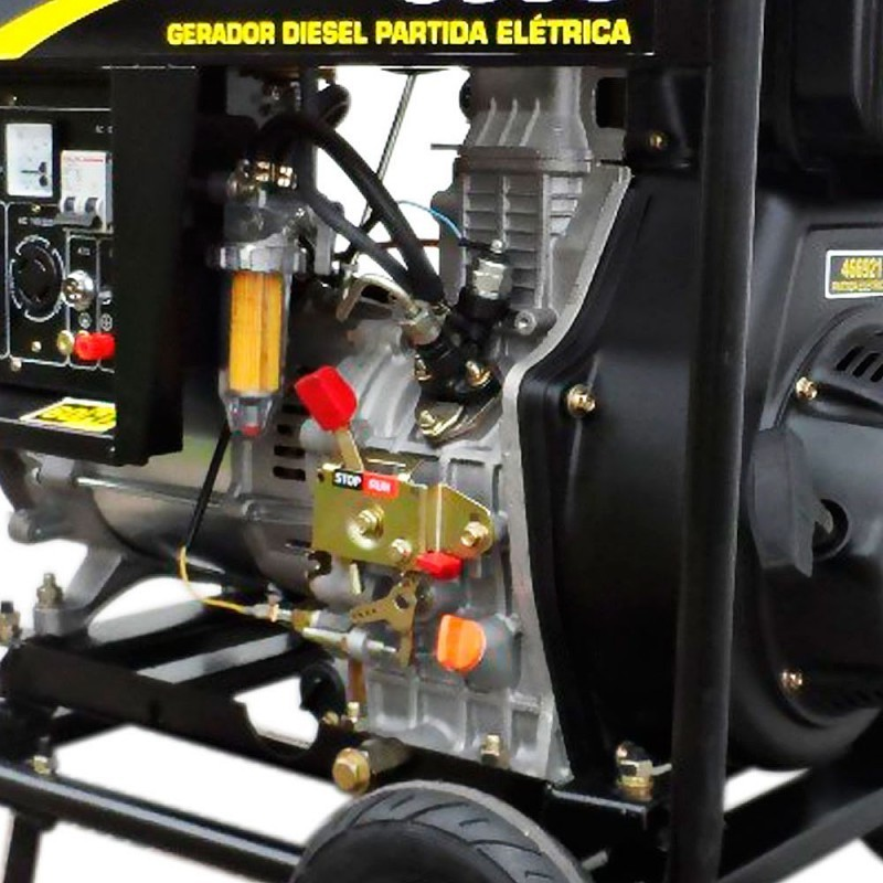 Gerador 8000 Diesel Trifásico 380V 13 HP Partida Elétrica Matsuyama