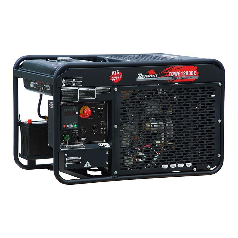 Gerador A Diesel Refrigerado a água Tdwg12000e Trifásico 220V Toyama