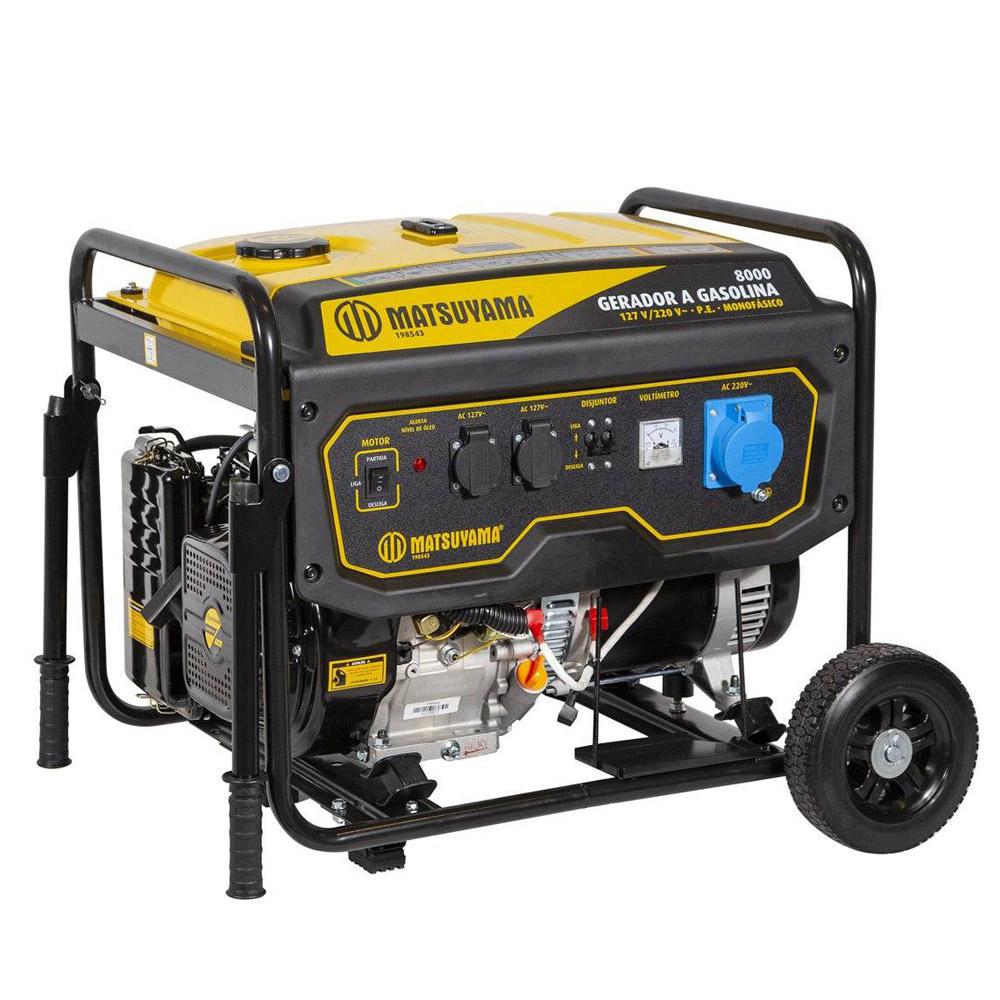 Gerador a Gasolina 8000 127/220V Partida Elétrica Matsuyama
