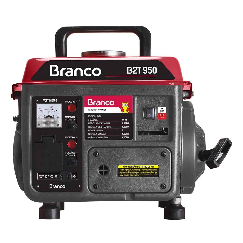Gerador Gasolina 1.9HP Monofásico P.Manual B2T950 Branco