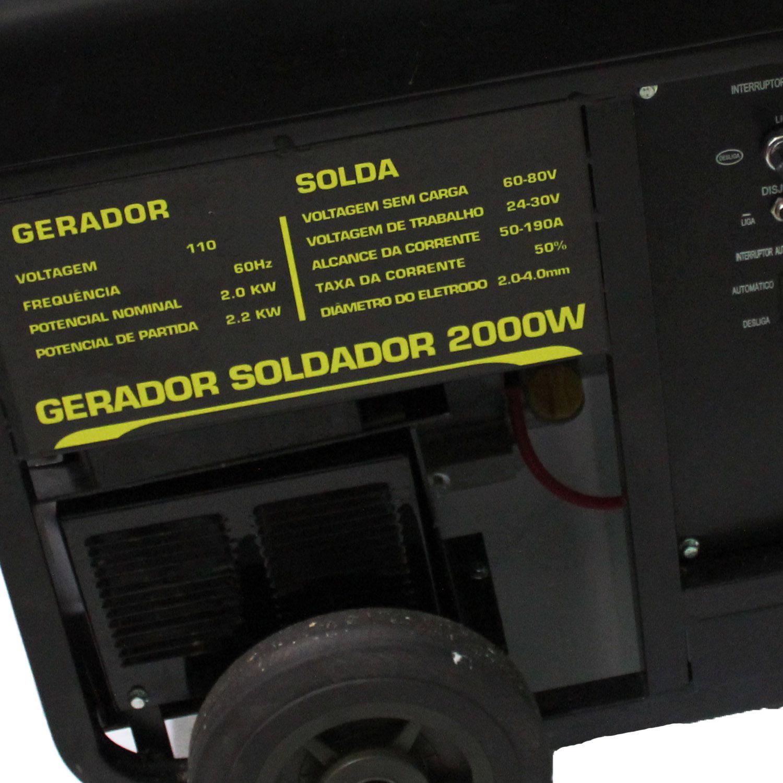Gerador Gasolina 2KVA Monofásico 110V Partida Elétrica Matsuyama
