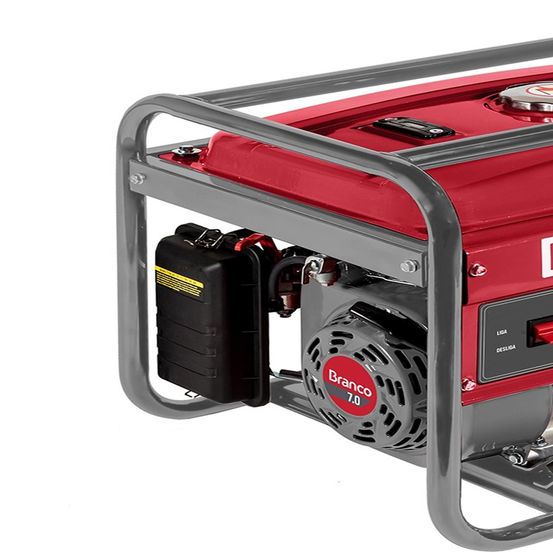 Gerador Gasolina 3.5KVA Monofásico B4T3500 Partida Manual Branco