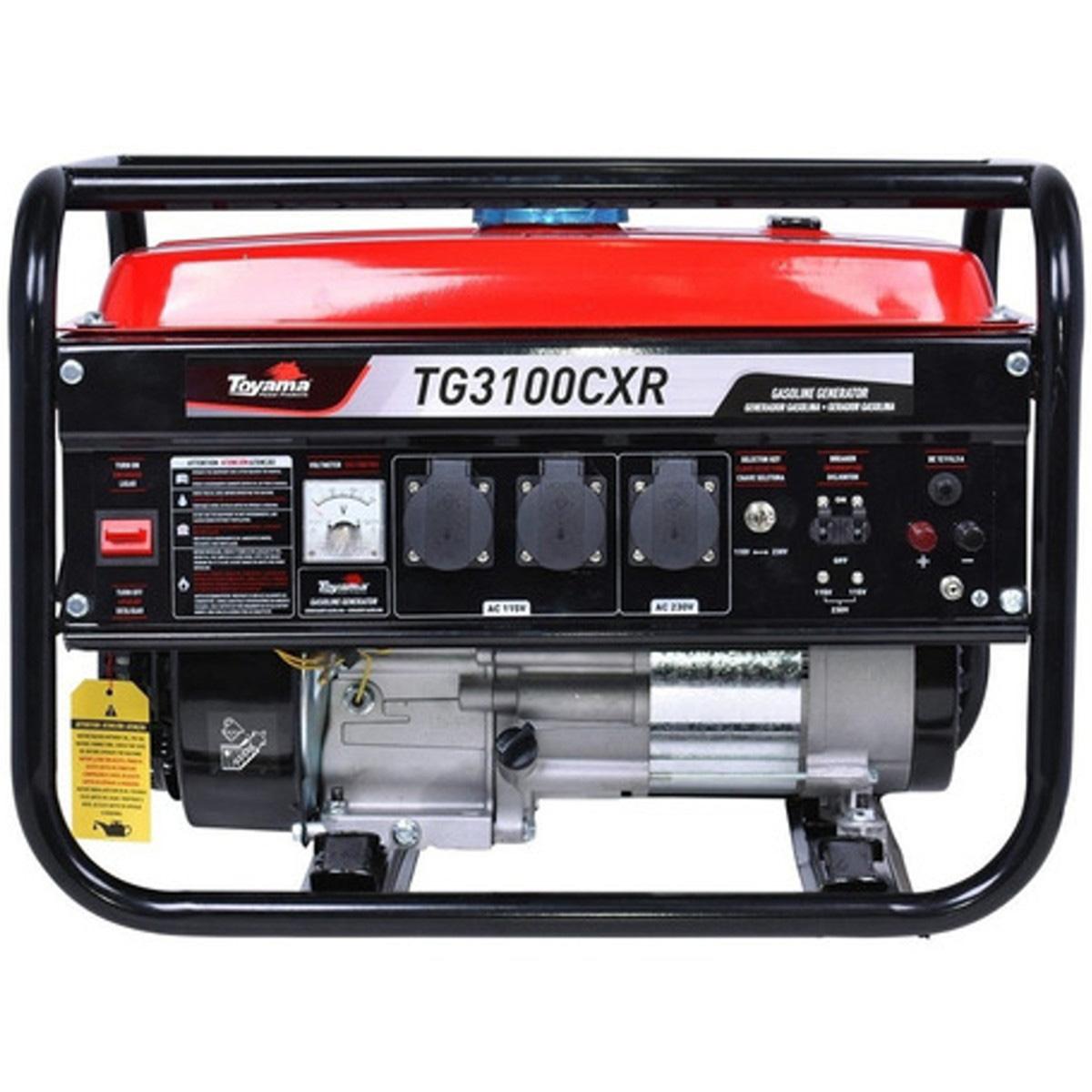 Gerador Gasolina Partida Manual TG3100CXR Mono 3,1KW Toyama