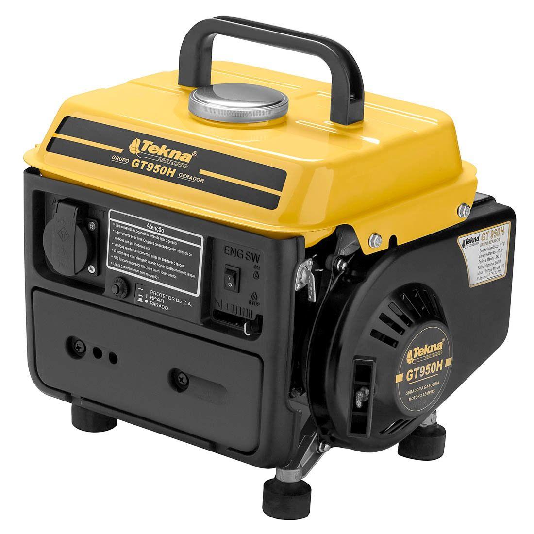 Gerador Tekna 950w Com Carregador de Baterias 12V 2 Tempos