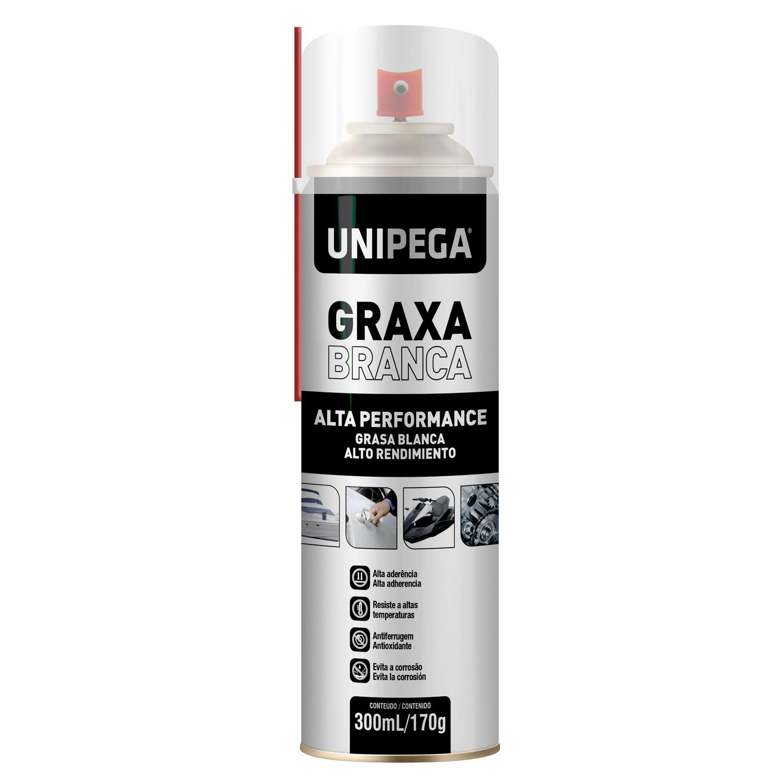 Graxa Branca Spray Aerosol 300ml 170g Unipega
