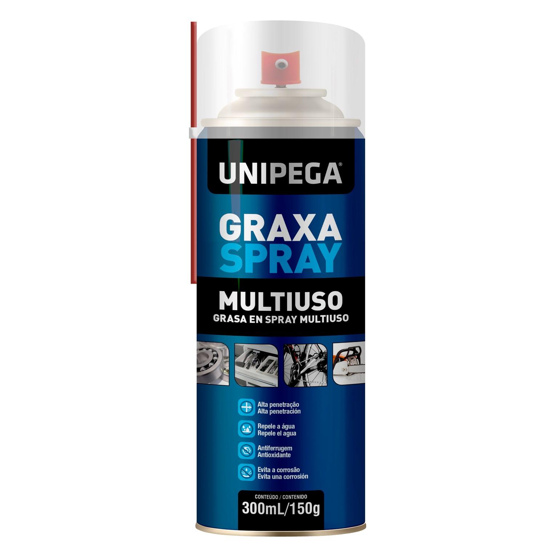 Graxa Spray Aerosol Multiuso 300ml 150g Unipega