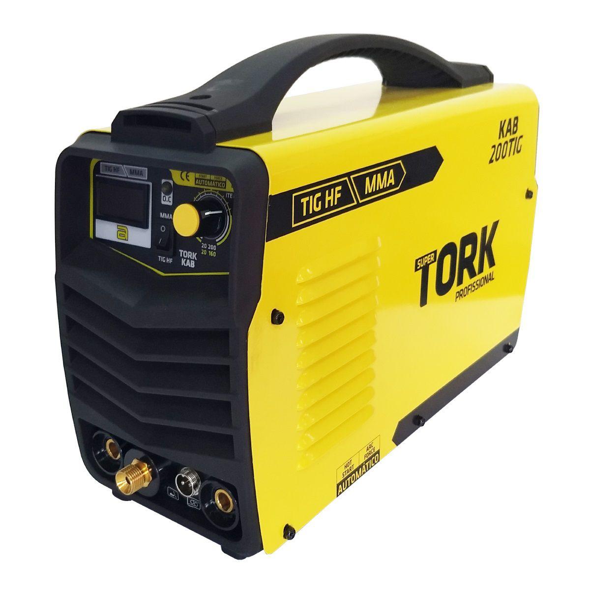 Inversor de Solda Tig Bivolt 200A Solda Aluminio Inox Tork