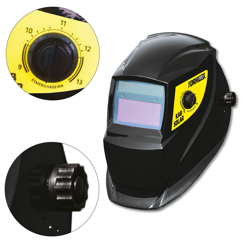 Inversor Solda Profissional 180A Com Máscara Solda Automática Tork