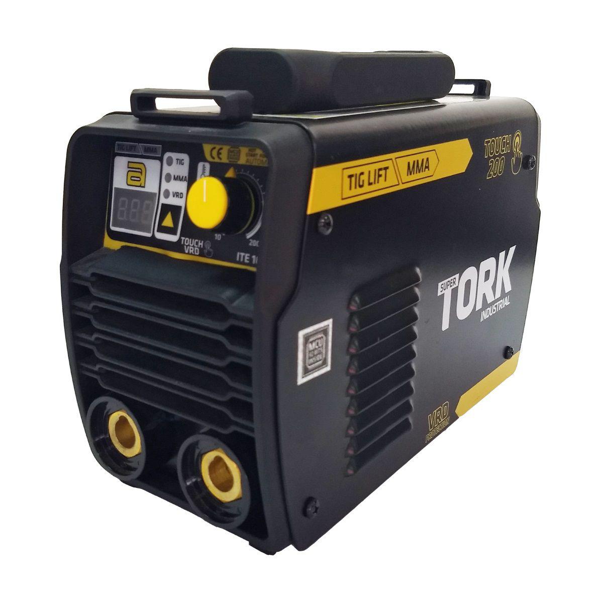 Inversor Solda Tig Industrial 200A Solda Aluminio Inox Tork