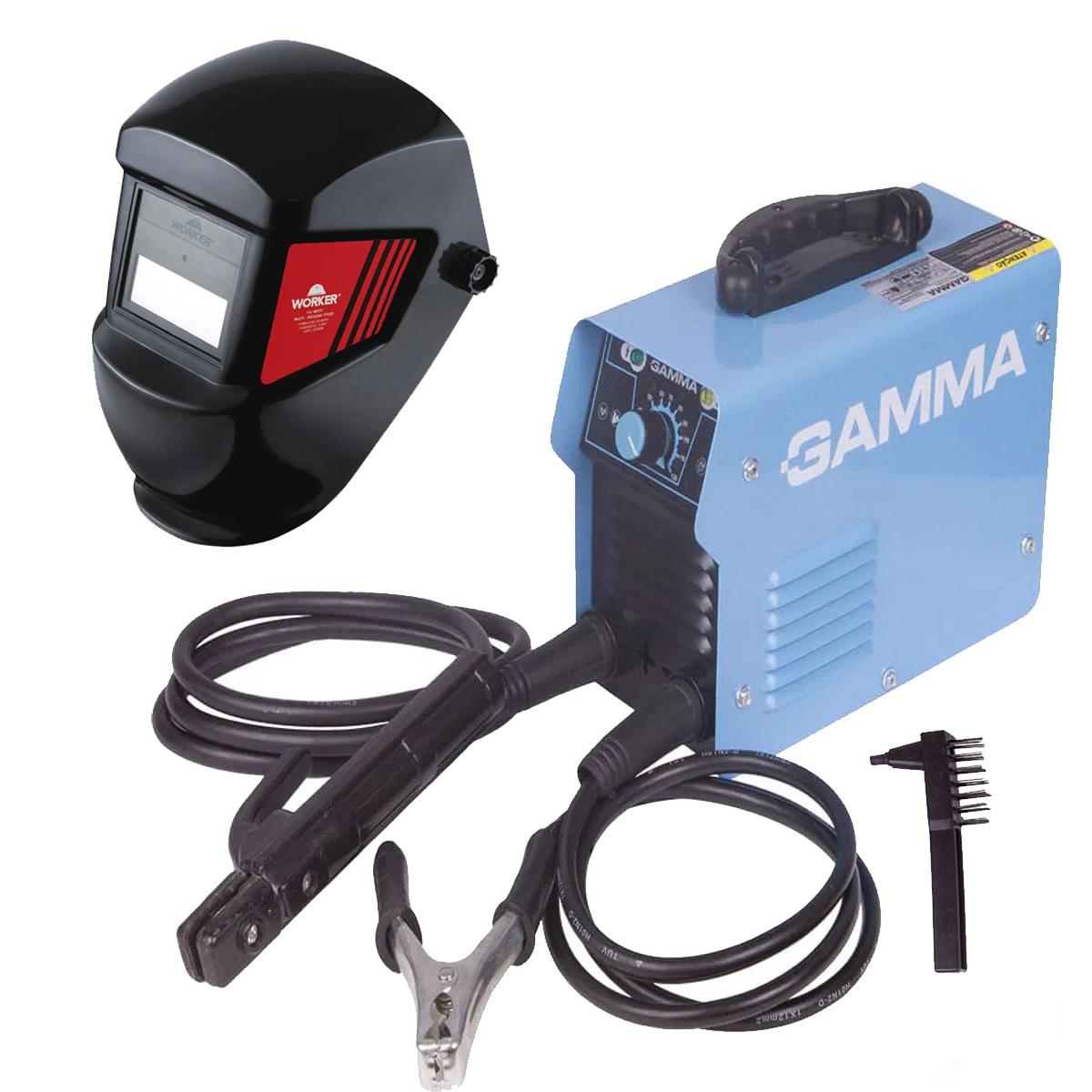 Inversora de Solda ARC120 Gamma com Máscara Ton13 Worker