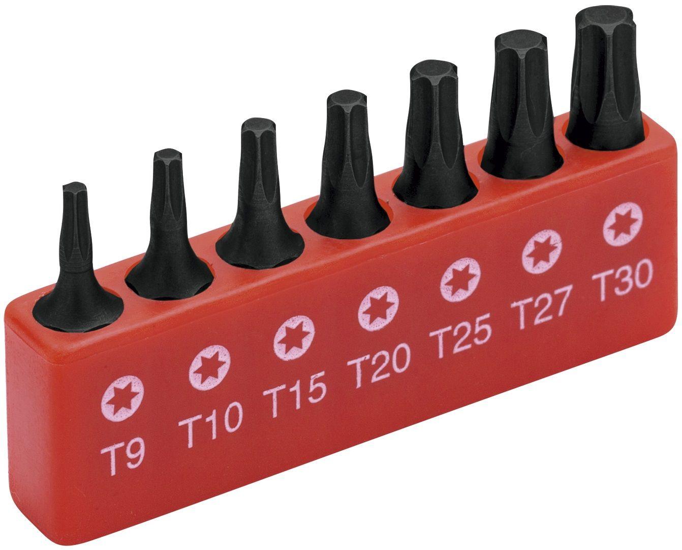 Jogo Bits Chave Torx T9 a T30 7 Peças Worker