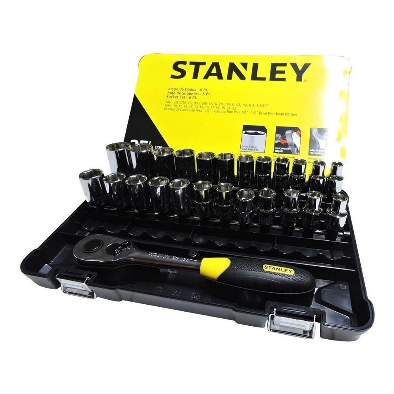 Jogo Soquetes com 25 Peças Cr-V Polido STMT72657 Stanley