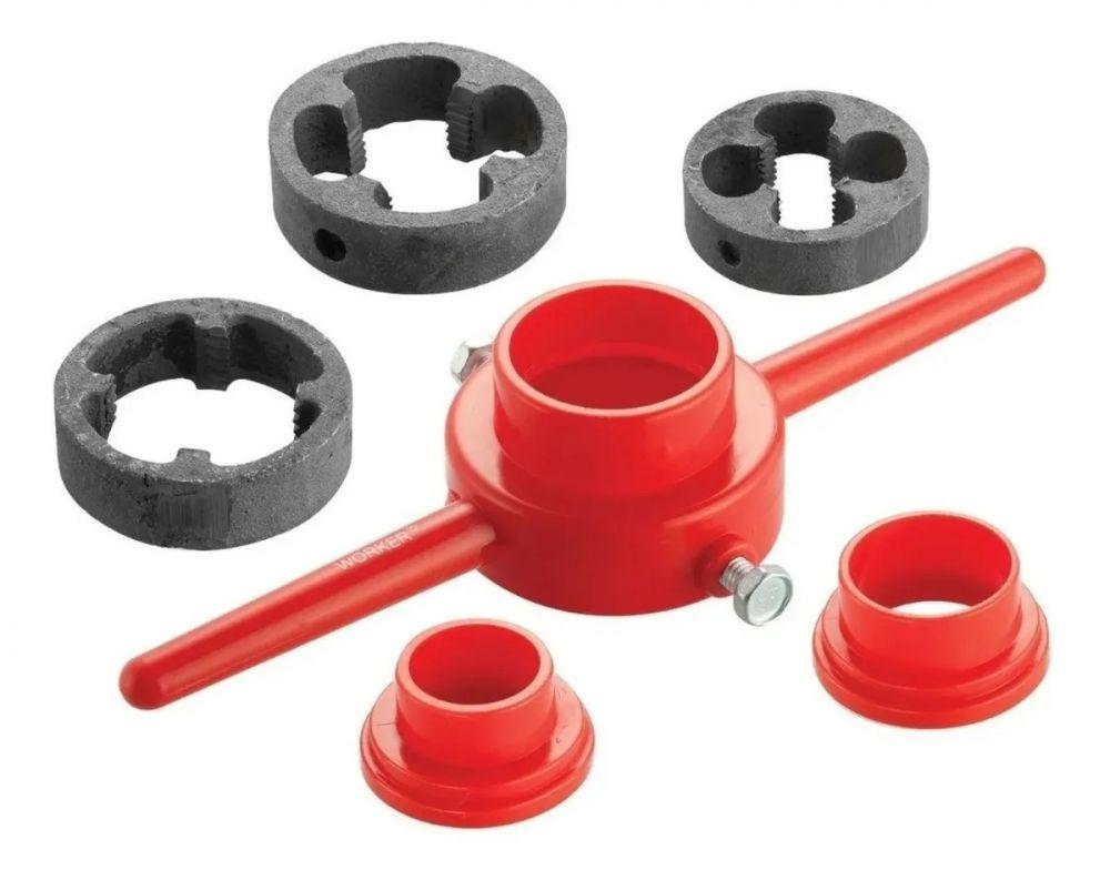Jogo de Tarraxas Para Tubo de PVC 6 Peças Worker