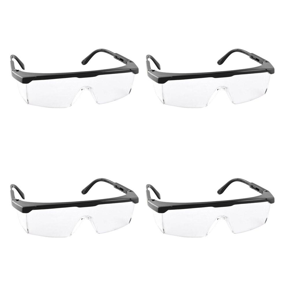 Kit 4 Óculos de segurança Foxter incolor Vonder
