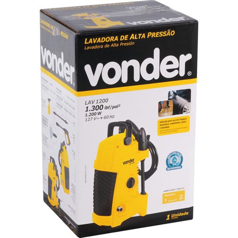 Lavadora de alta pressão LAV1200 1300 Libras Vonder