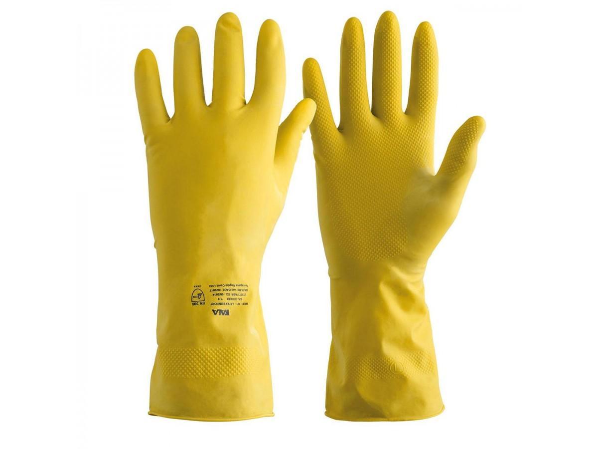 Luva de proteção em Latex K1 Amarela Kala