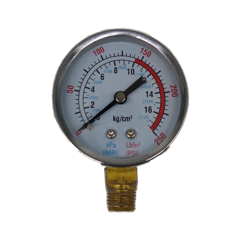 Manômetro Para Compressor de Ar 250Psi 17Bar Motomil
