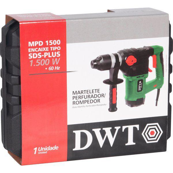 Martelete Perfurador Rompedor Profissional 1500W SDS PLus Dwt
