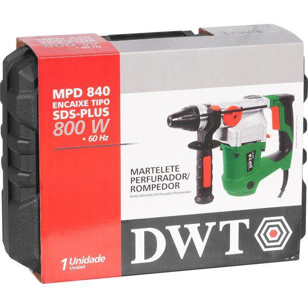 Martelete Perfurador Rompedor Profissional 800W SDS PLus Dwt