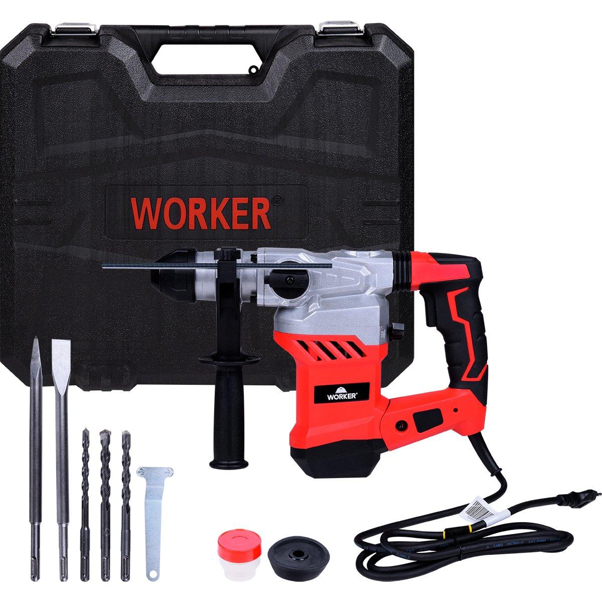 Martelete Perfurador Rompedor SDS PLUS 1500W 6,0J Worker