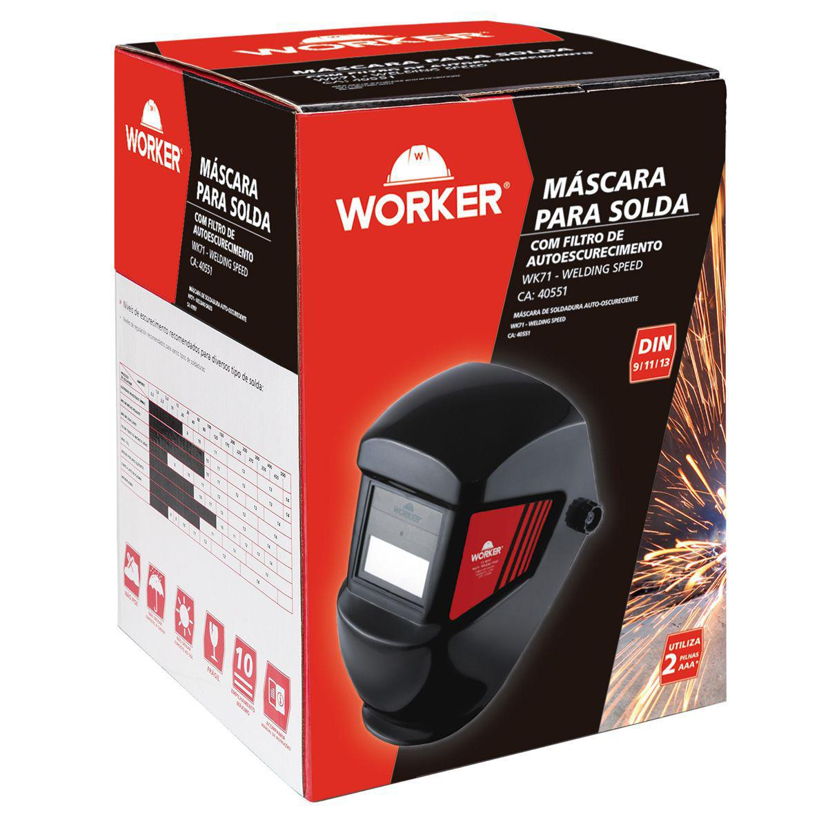 Mascara de Solda Escurecimento Automática Ton13 WOR13 Worker