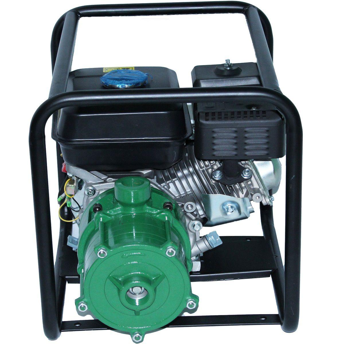 Motobomba 4 Estágios Irrigação Alta Pressão 5.5hp Gasolina 70MCA