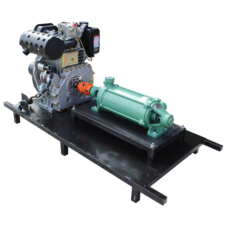 Motobomba Diesel 16HP 668C 9 Estágios Pressão Irrigação Thebe