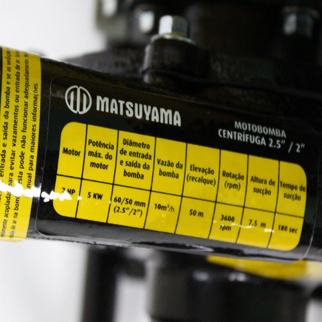 Motobomba Gasolina 4 Tempos Alta Pressão Irrigação 2 Polegadas Matsuyama