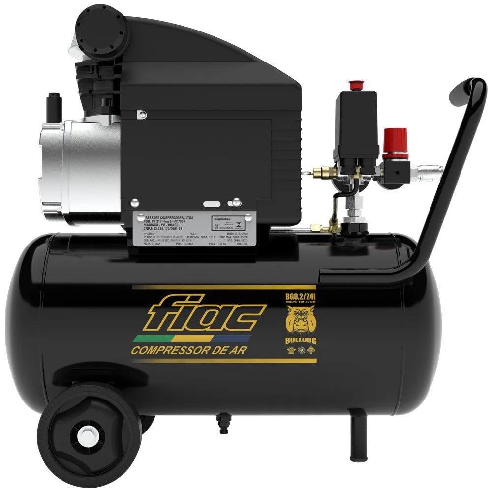 Motocompressor 8Pcm 24 Litros Fiac Bulldog Pressure