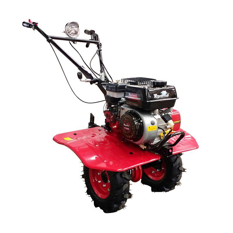 Motocultivador Gasolina Com Rodas Enxadas e Encanteirador 6.5Hp TT90R Toyama