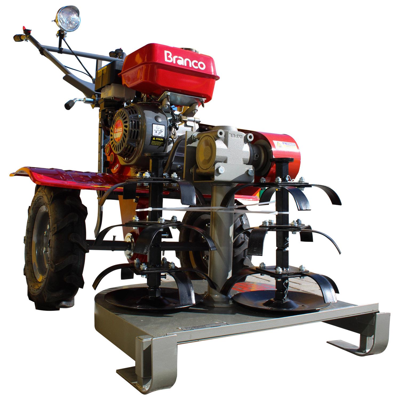 Motocultivador Tratorito 6.5HP Gasolina Com Roçadeira RF500 Branco
