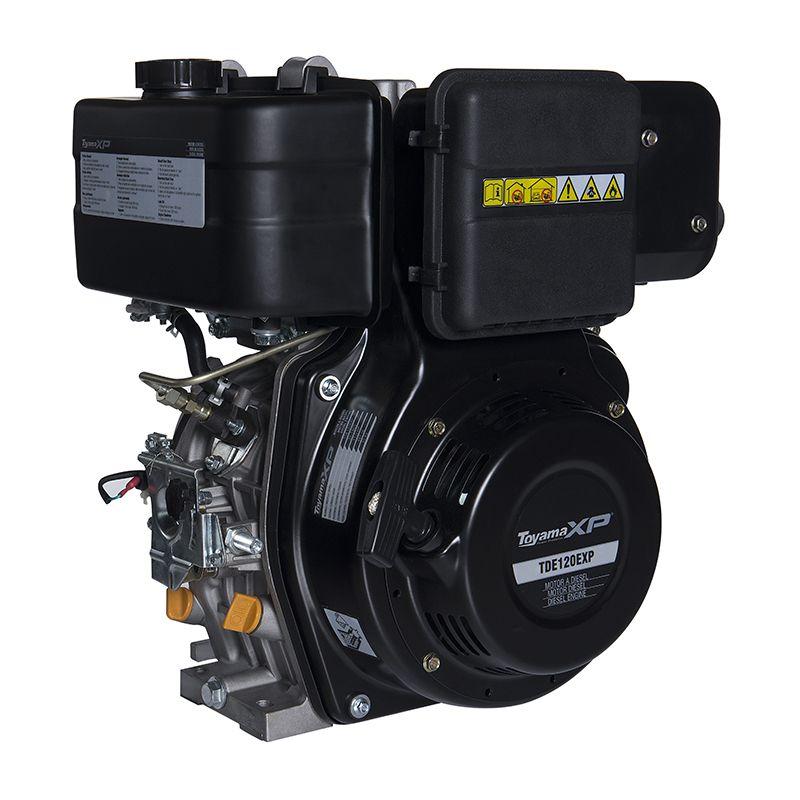 Motor a Diesel Partida Elétrica Profissional TDE120E-XP 11HP Toyama