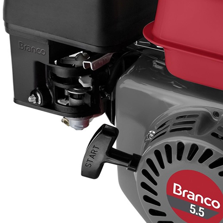 Motor Gasolina 4 Tempos 5.5 HP Partida Manual B4T5.5H Branco